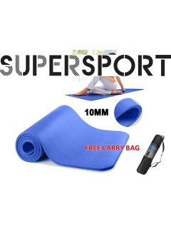 FREE CARRY BAG SUPERSPORT 10MM Extra Thick Premium Grade Exercise Yoga Mat Non-slip Fitness