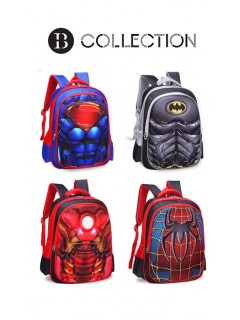 3D Comics Marvel's The Avengers Kindergarten Nursery School Backpack Bag Beg Sekolah