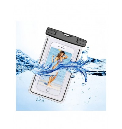 SUPERSPORT Universal Outdoor Waterproof Water Resistant Dust Dirt Proof Floating Phone Case Eco-Friendly PVC TouchablePouch Dry for Smartphone 6inch 20cm x 11.5cm