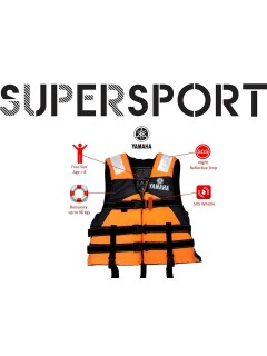 SUPERSPORT Yamaha Life Jacket Water Sport Survival Tourism Adult (Unisex Free Size)