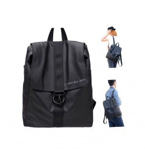 B COLLECTION CK BAG European Style Outdoor Travel Backpack (Black)