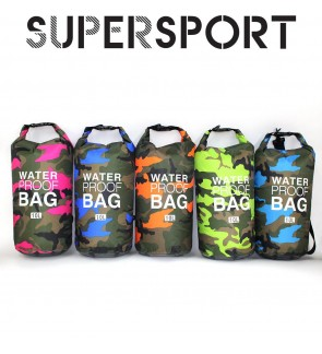 SUPERSPORT Army Collection Dry Bag Waterproof Detachable Shoulder Single Double Strap Swimming Boating Kayak Rafting Hiking 2L 5L 10L 20L 30L