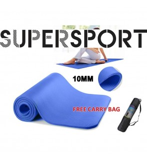 10MM Extra Thick Premium Grade Exercise Yoga Mat Non-slip Fitness Carry Strap Carry Bag