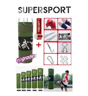 (FREE GIFT) SUPERSPORT Top Grade MMA Punching Boxing Sand bag Training Green 70cm 80cm 100cm 120cm 150cm