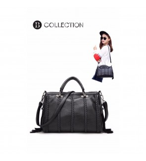 B COLLECTION Premium European Style Elegant Tote Bag - Black