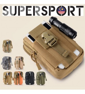 SUPERSPSORT Oxford Tactical Pouch Waterproof Multi-purpose Utility Garget Pouch Waist Bag Outdoor Beg TAC11