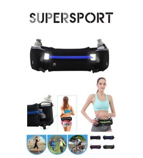 (FREE 2 BOTTLES) SUPERSPORT Hydration Waist Best Running Belt Water Bottle Marathon Sport