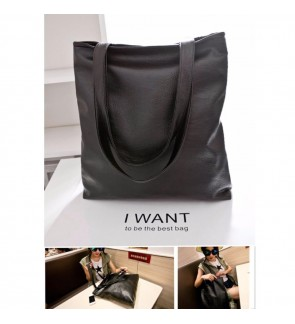 b collection Classic Designer PU Leather Tote Shoulder Large Capacity Shopping Bags