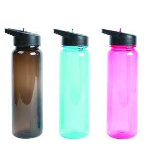 SUPERSPORT Leakproof Sports Hand Grip Water Bottle with Food Grade Straw