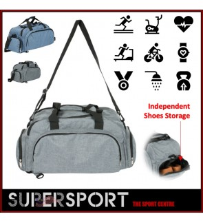 Fitness Sport Small Gym Bag with Shoes Compartment Waterproof Travel Duffel Bag for Women and Men SUPERSPORT