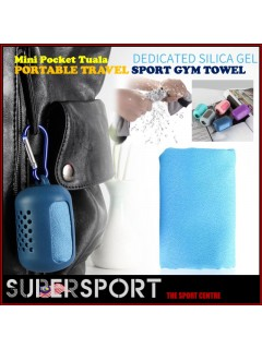 SUPERSPORT Travel Foldable Pocket Mini Towel Portable Hiking Camping Quick Dry Towel with Silicon Case for Outdoor Tool Sport Face Towel Tuala travel