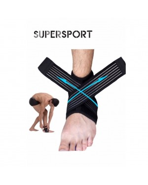SUPERSPORT 1 PAIR Support Protect Leg Ankle Guard Adjustable For Sports