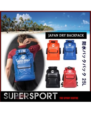SUPERSPORT 25L PVC Waterproof Backpack Dry Bag with Pocket and Padded Shoulder Straps Large Dry Sack for Kayaking,Beach,Water Sports,Boating