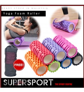 SUPERSPORT FREE BAG Yoga Foam Roller EVA Muscle Massage Gym Yoga Exercise Fitness Physiotherapy Massage Equipment