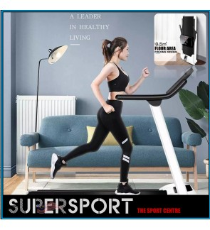 Running Treadmill for Home Powerful Hybrid Motor Ultra Silent Compact Size Fordable Easy Storage Light Weight with Tablet Phone Holder