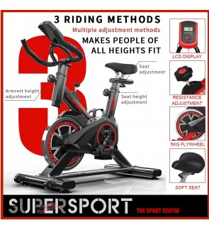 Exercise Bike Foldable Spinning Pedals Bike Indoor Fitness Equipment for Home Sports Trainer