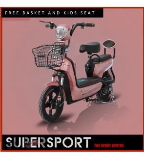 Powerful Electric Scooter 2 Wheel Electric Scooters 48v Electric Tricycle Adult With Child Seat 350W 35km/h