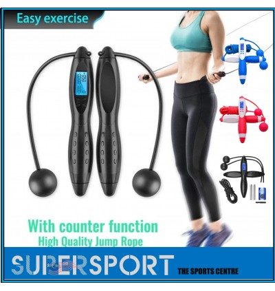 Digital Jump Rope Counting Calorie Fitness Sport Weight-bearing Skipping Ropes Workout Excercise Tool